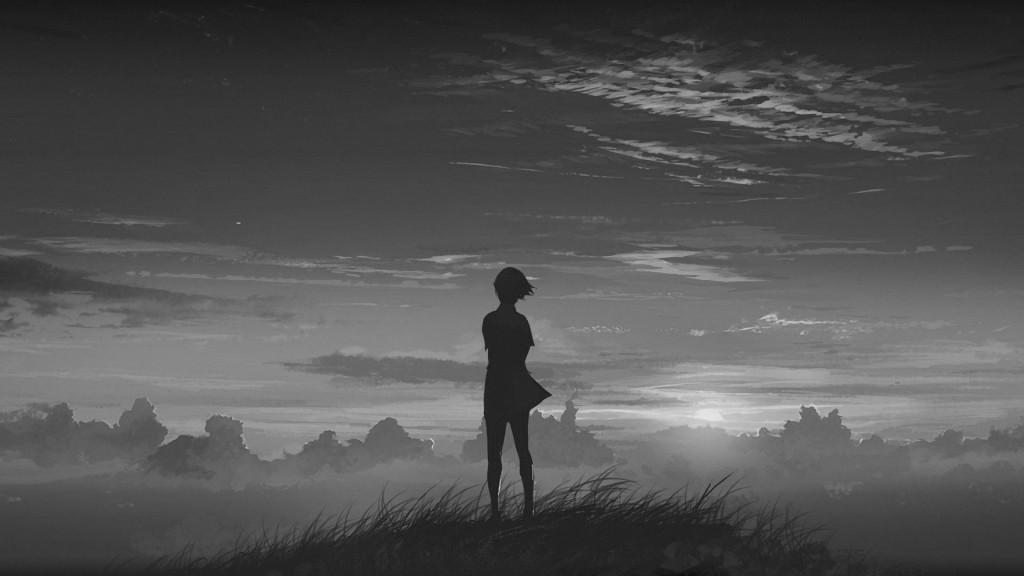 A figure standing in dark