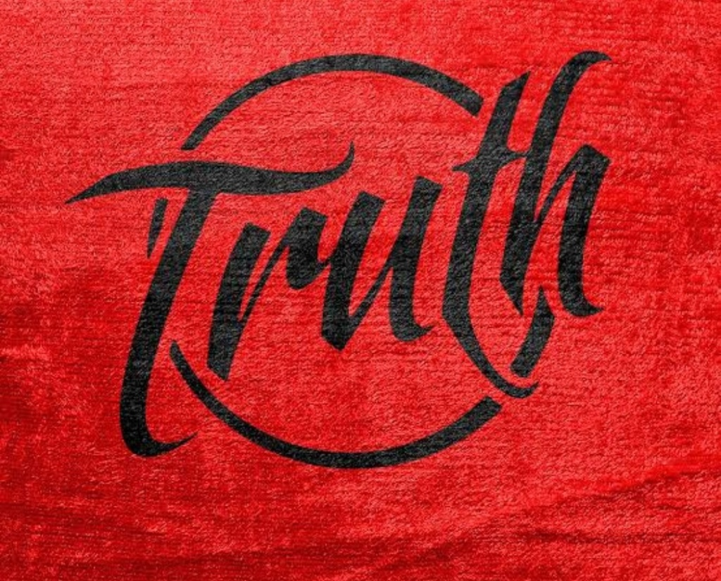 Truth written on red background